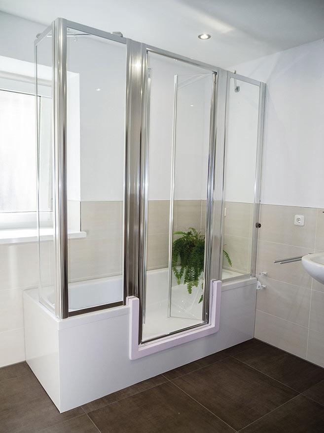 Badewanne mit duschzone komplett  Badezimmer Dusche Und Badewanne: Badewanne zur dusche umbauen ...