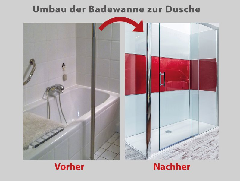 wanne zur dusche die begehbare dusche in 8 std umgebaut. Black Bedroom Furniture Sets. Home Design Ideas