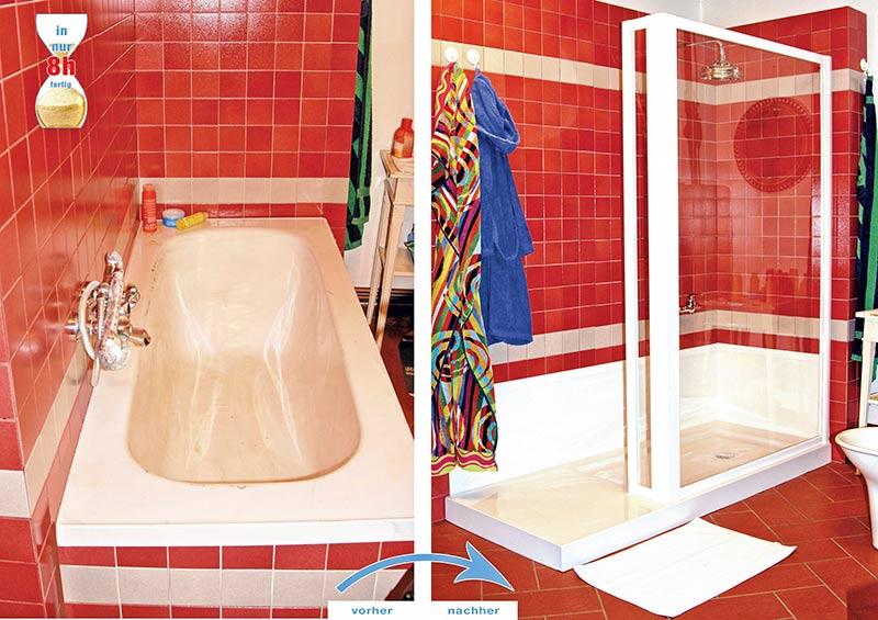umbau badewanne zu barrierearmer dusche. Black Bedroom Furniture Sets. Home Design Ideas